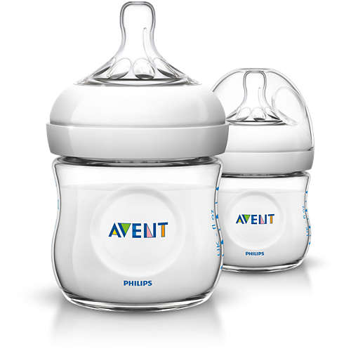 Avent Lot de 2 Biberons Natural 125 ml