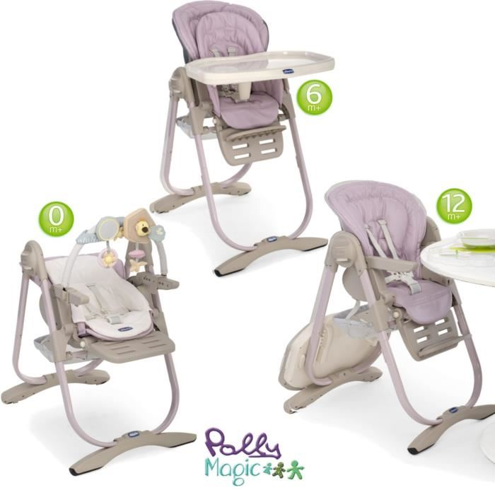 Chicco Chaise Haute Bébé Polly Magic Relax Cocoa Chicco