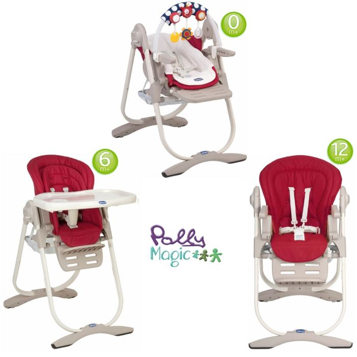 Chicco Chaise Haute Bébé Polly Magic Relax Scarlet Chicco