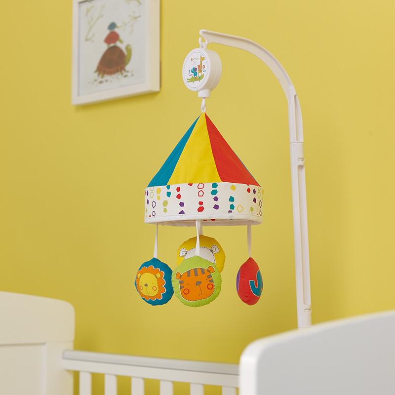 mobile lit b b happy safari disney baby 32ob0105. Black Bedroom Furniture Sets. Home Design Ideas
